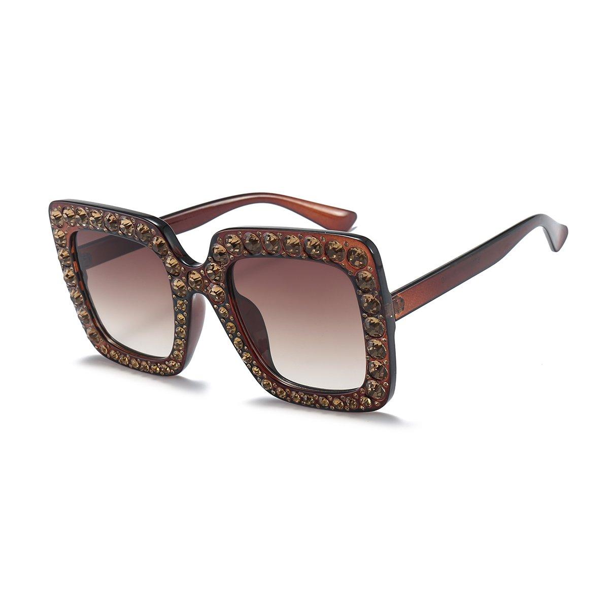 Amazon.com: aimade Mujer anteojos de gran tamaño cuadrado ...