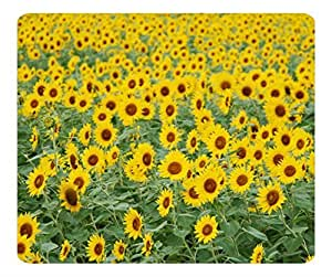 Decorative Mouse Pad Art Print Landscape and Plants Sunflower Field by icecream design
