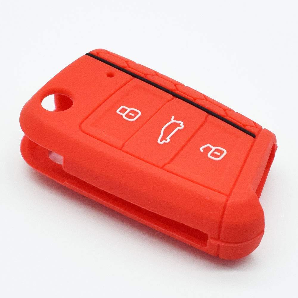 Funda de silicona para llave de coche para VW Golf 7 MK7 Polo Seat ...