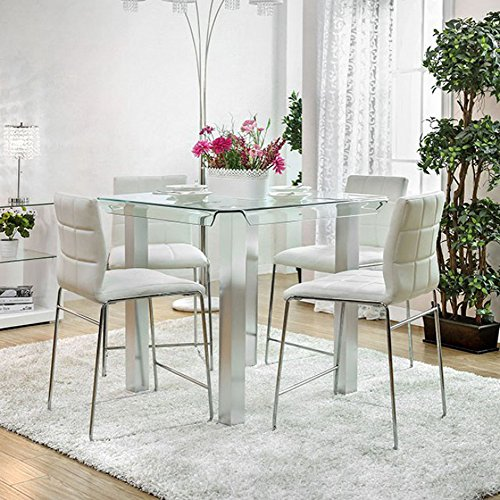 Furniture of America FA-CM3362PT Dining Table Silver