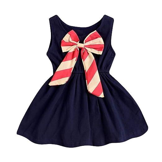 600cae14c78ab Amazon.com: SiQing Summer Toddler Kids Childs Girls Sleeveless Blue ...