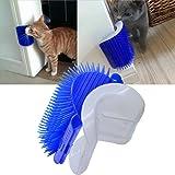SweetPetGarden 3.0 Softer Cat Corner Self Groomer with Catnip Pouch,Cat Grooming Brush Wall Corner Massage Groomer Scratcher Comb