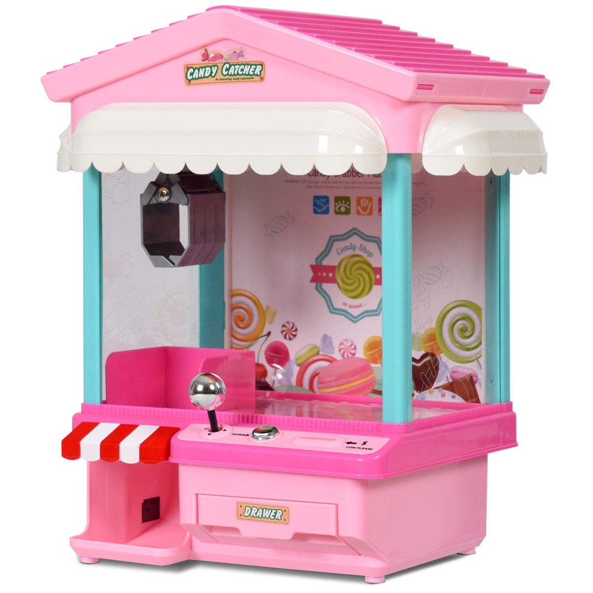 Snow Shop Everything Kids Electronic Claw Toy Grabber Machine Home Arcade w/ Lights & Music & Coins by Snow Shop Everything (Image #8)