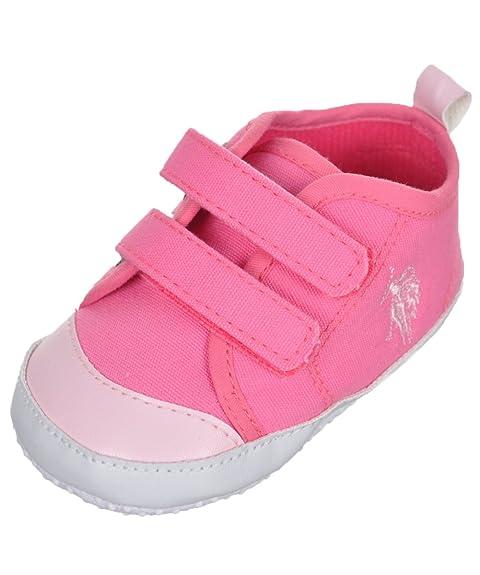 U.S. Polo ASSN. Bebé Niñas Lienzo de Doble Correa Zapatillas Botines
