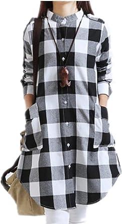 Blusa Larga De Algodón De Mujeres Las Camisa De Modernas ...