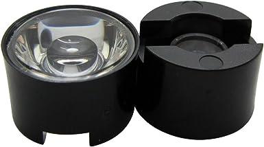 Smooth 45 Degree Led Lens Black Holder For 1W 3W 5W Led Light 15MM Scrub 60