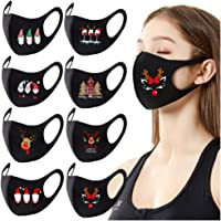 Christmas Adult Face Protection Reusable Washable Colorful Fabric Earloop Anti-dust Face Bandanas Breathable Dustproof…