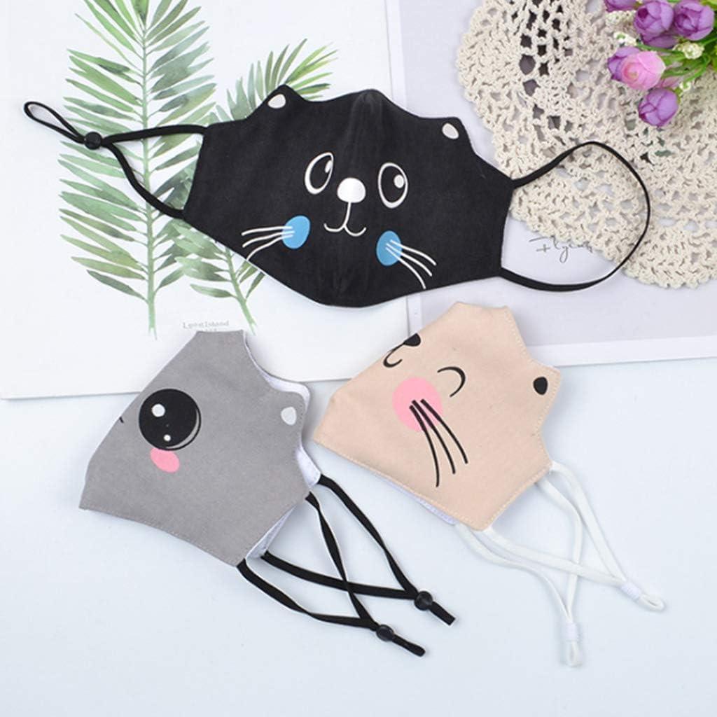 Yiyilam Enfants Cartoon Cat Ears Dustproof ḟɑcѐ ṁɑѕḱ cọṫṫọṇ ẇɑѕḣɑḃlѐ Protective ṁọụṫḣ Cɑvѐṙ