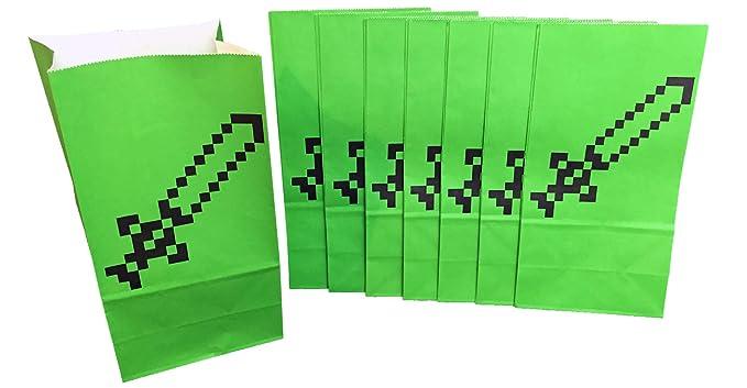 Amazon.com: Pixel espada Goodie y bolsas de Favor de fiesta ...