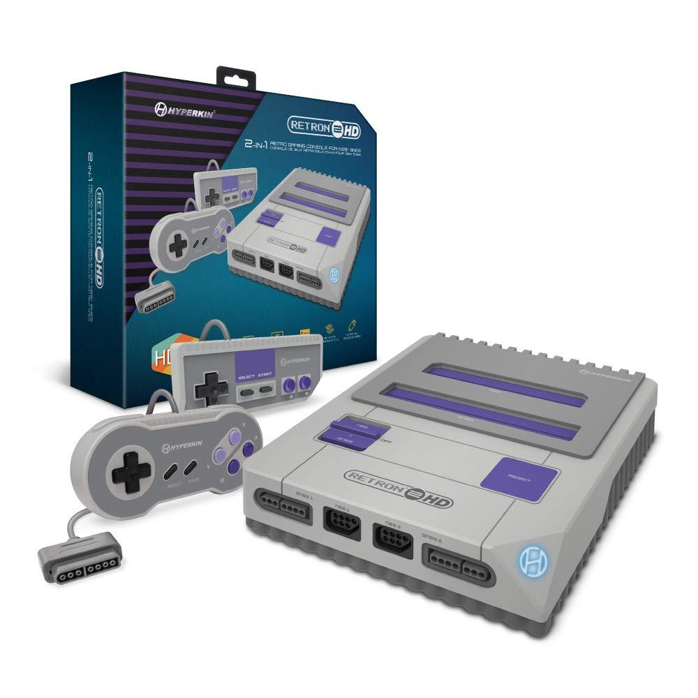 Hyperkin RetroN 2 HD Gaming Console for NES/ Super NES/ Super Famicom (Gray)