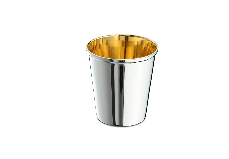 Kinderbecher 925// Sterling 7,8 cm Taufbecher Sterlingsilber innen vergoldet