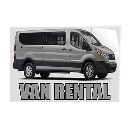 d6f6fc748025c7 Amazon.com   Decal Sticker Van Rental Business Van Rental Outdoor ...
