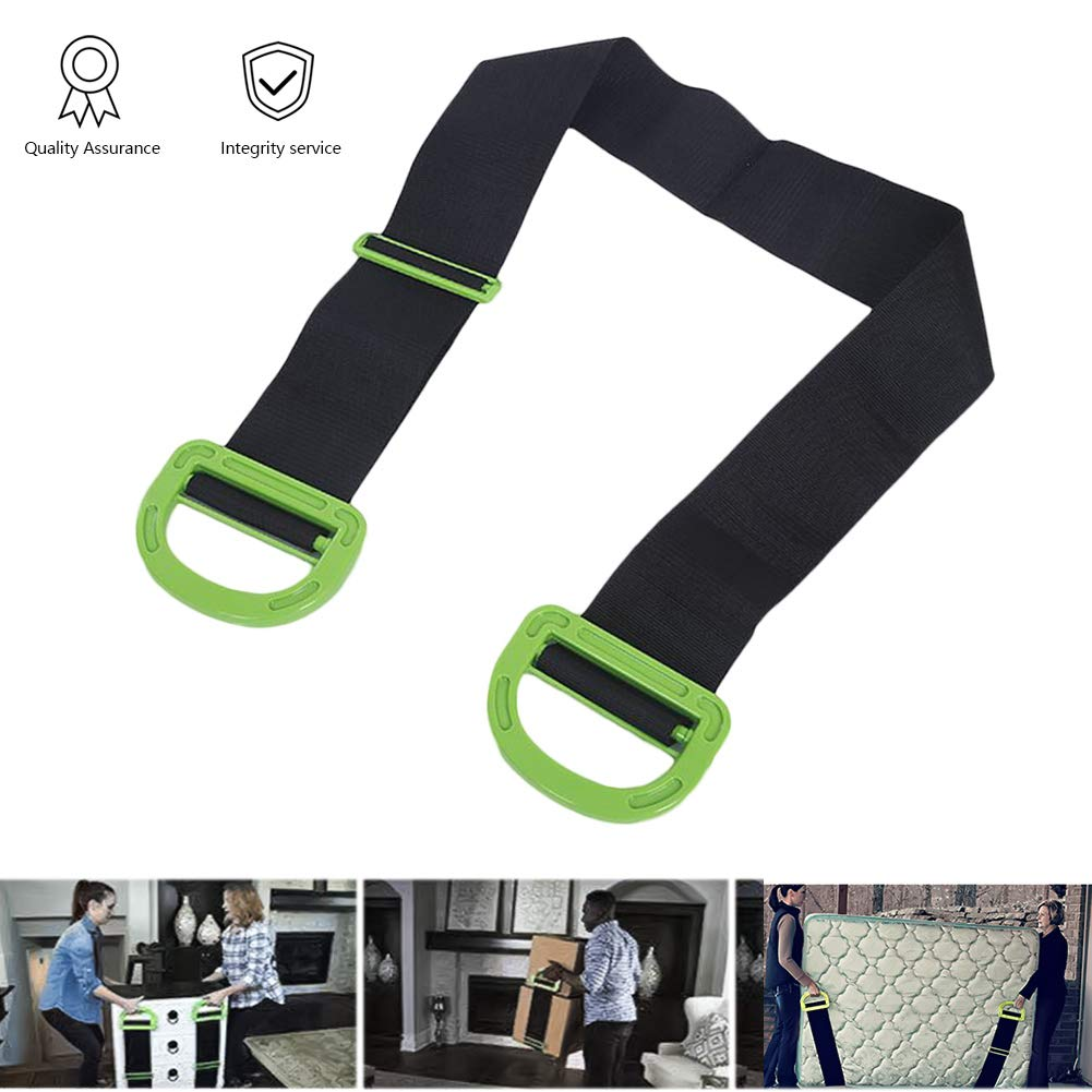 HTTOOL Adjustable Landle Moving and Lifting Straps, Single or Two Person Carrying, Lifting Straps for Furniture,Single or Two Person Carrying