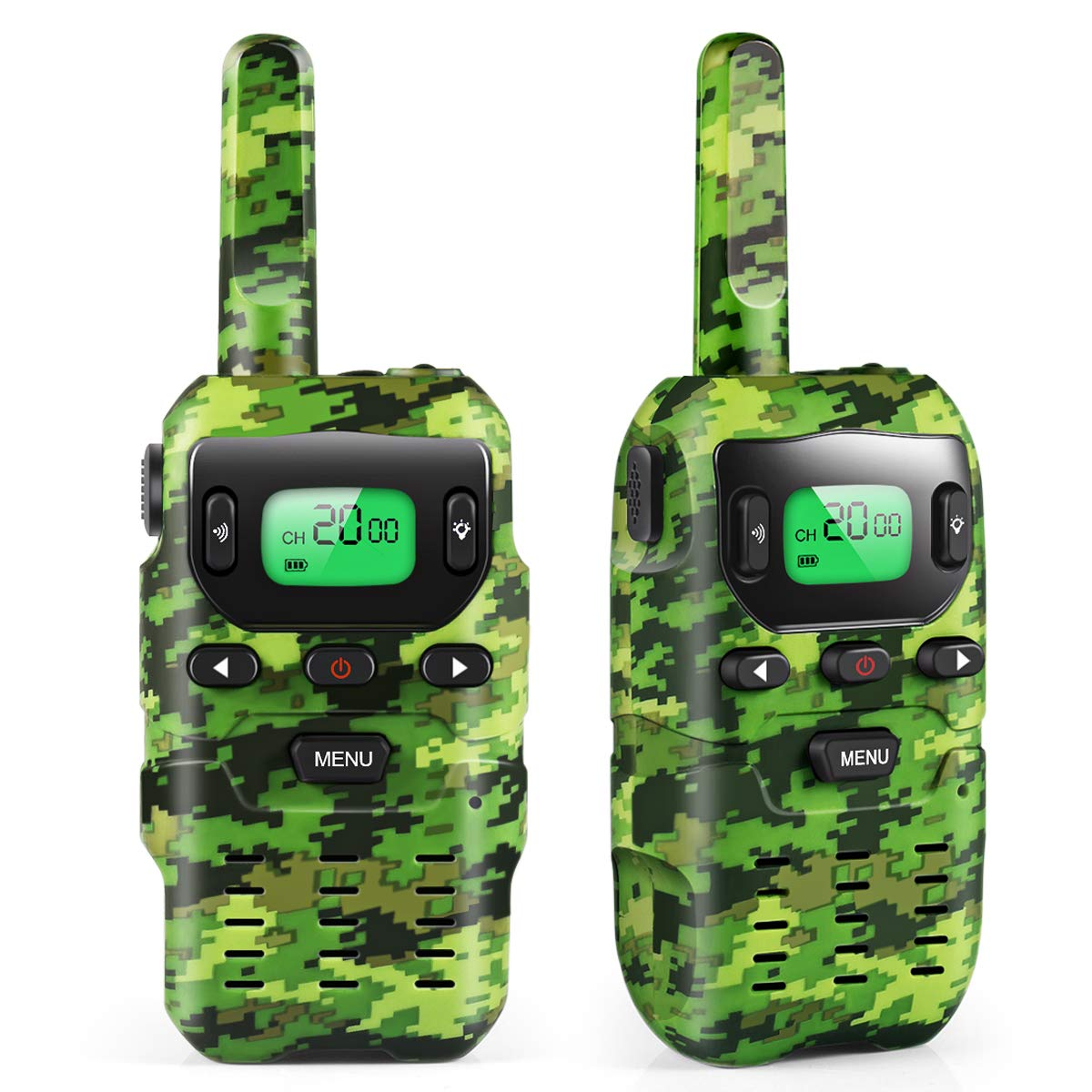 UOKOO Walkie Talkies for Kids, Toys for 3-12 Year Old Boys 22 Channel 3 Mile Long Range Kids Toys and Kids Walkie Talkies, and Top Toys for for 3 4 5 6 7 8 9 Year Old Boy and Girls