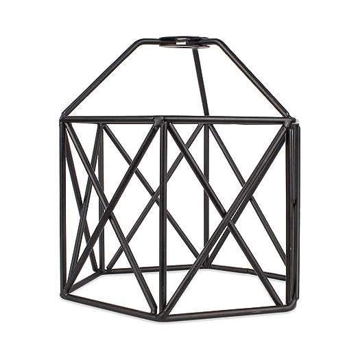 PMWLKJ - Pantalla para lámpara de techo (metal), diseño de jaula ...