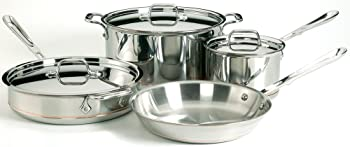 All-Clad Stainless Steel Copper Core 7-Piece Cookware Set (Second Quality)
