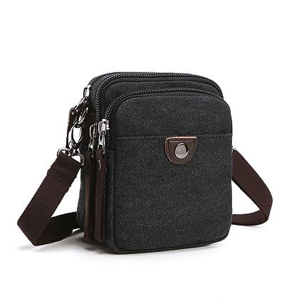 47926e4726cd ENKNIGHT Nylon Crossbody Purse Bag for Women Travel Shoulder handbags (Black -s)
