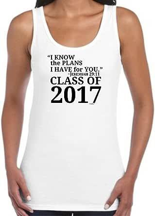 ThisWear Christian Graduation Gift Jeremiah 29:11 Class 2017 Juniors Tank Top