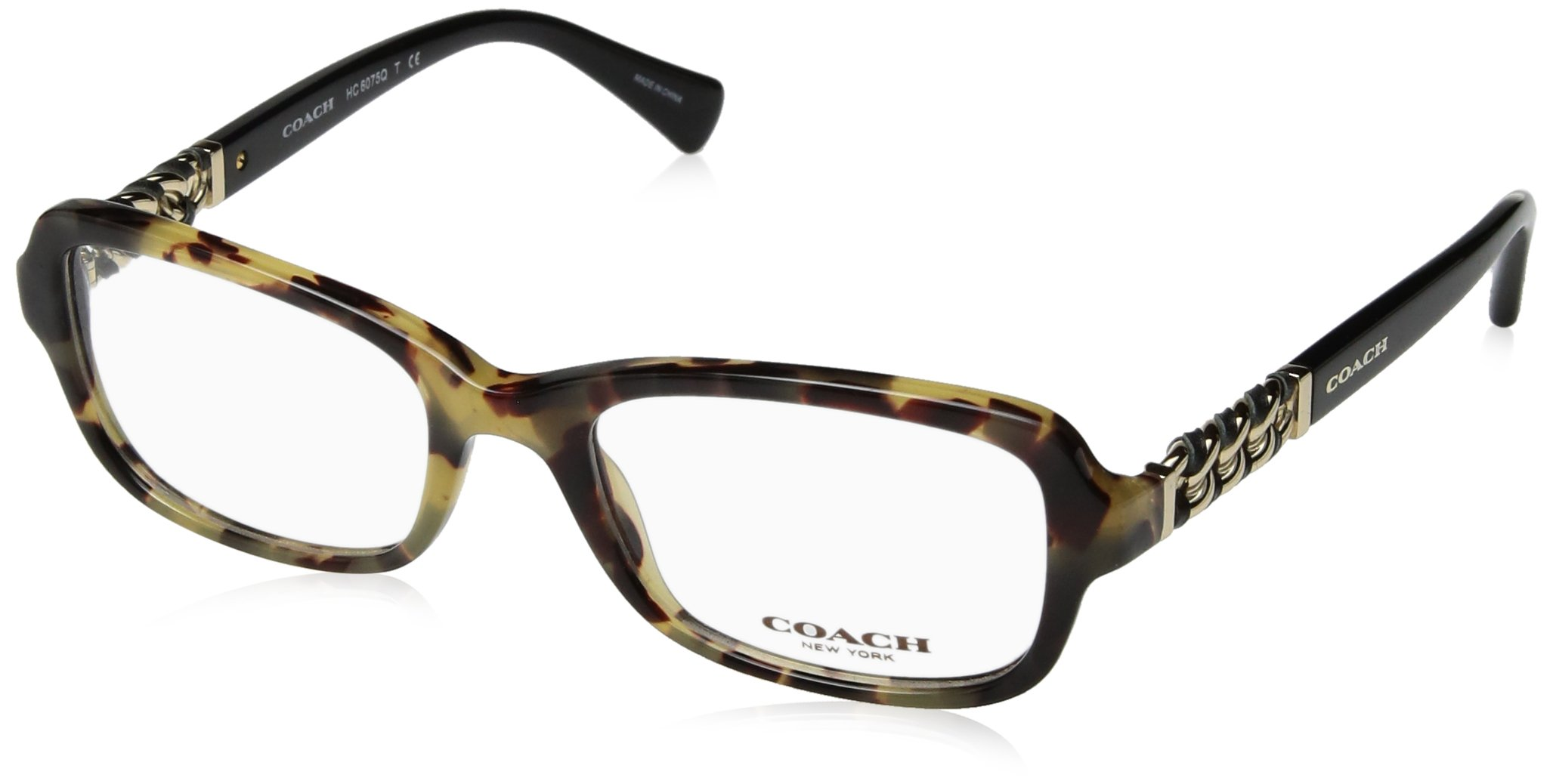 COACH Women's 0HC6075Q Dark Vintage Tortoise/Black One Size