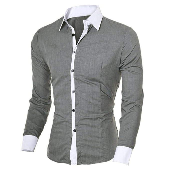 Camisetas Hombre de BaZhaHei, Blusa superior de manga larga delgada ocasional de los hombres de la personalidad de la moda Camisa de manga larga delgada ...