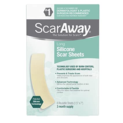 Amazon.com: ScarAway Long Silicone Scar Sheets, 6 Count: Health ...