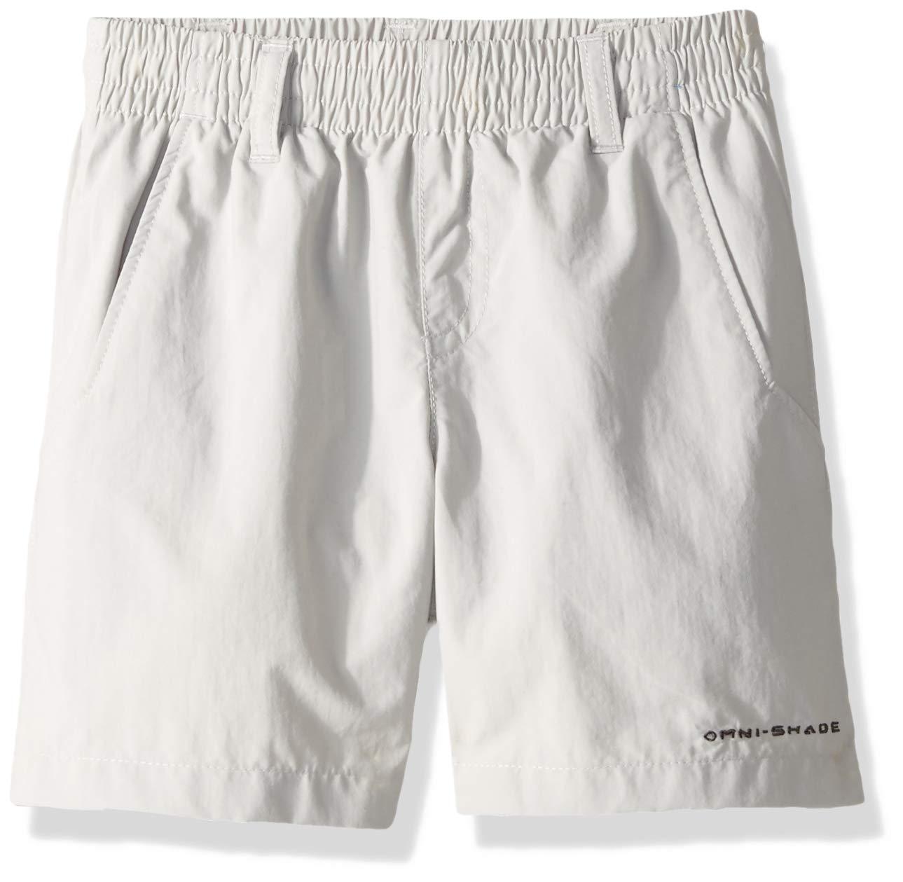 Columbia Boys' PFG Backcast Short , Cool Grey, X-Small