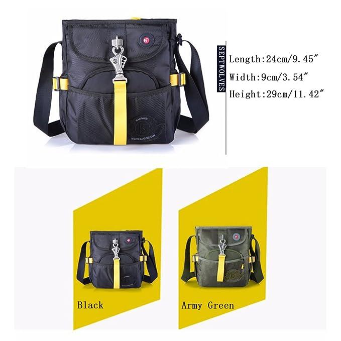 5ceadbb474ab Amazon.com  HAOSHUAI Men Oxford Casual Handbag Shoulder Cross Body Messenger  Travel Bag Mini Shoulder Bag  Sports   Outdoors