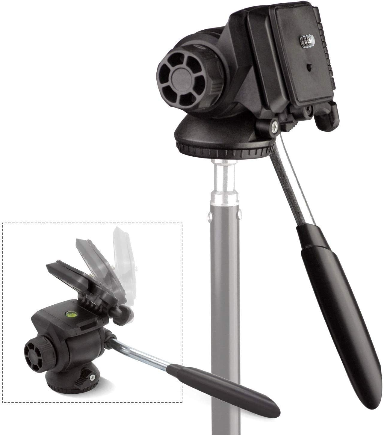 Three Axis Angle Adjustable Studio Camera Tripod Mount w//Quick Release Plate