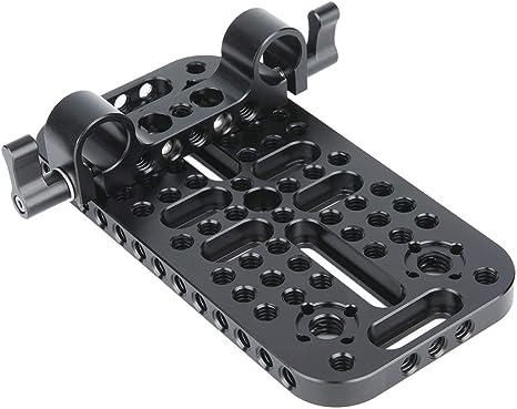 Update Version NICEYRIG Camera Shoulder Pad with 15mm Railblock and Aluminum Alloy Rods for DSLR Video Camcorder Shoulder Stabilizer