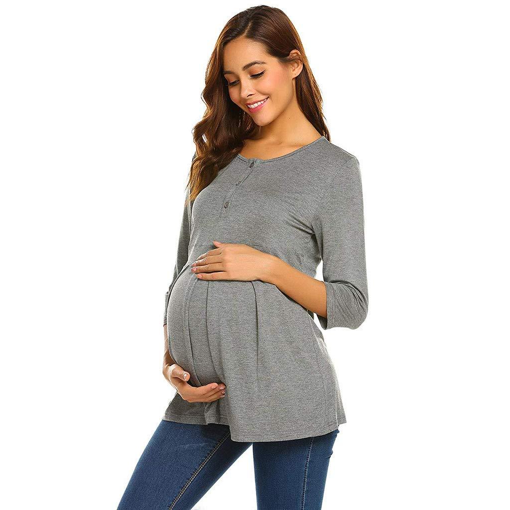 【誠実】 Yihaojia Maternity レディース Clothes DRESS レディース Yihaojia Large DRESS グレー B07NWF1SS9, ジュエリープロデューサーSHINCOKI:fe7c2320 --- cygne.mdxdemo.com
