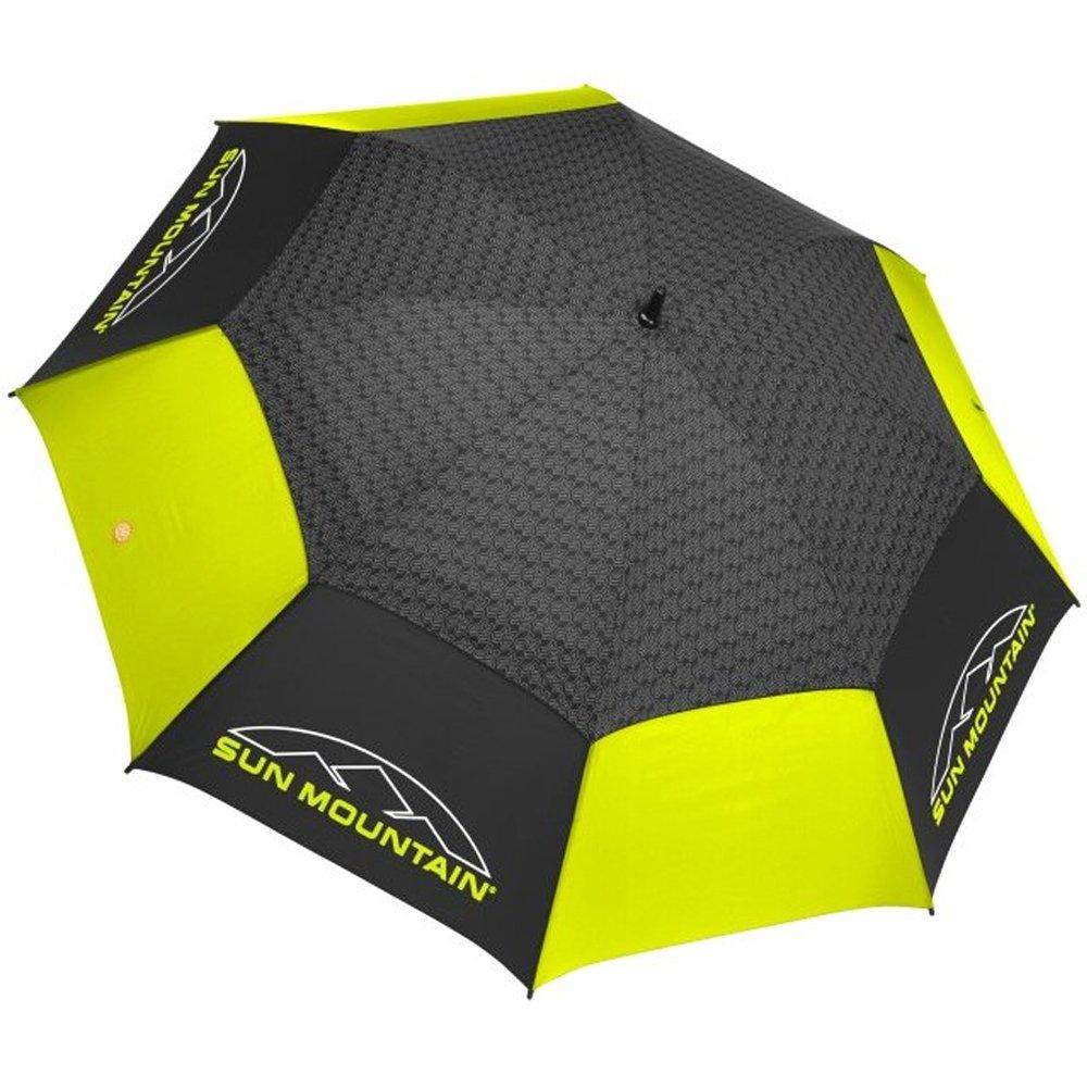 Sun Mountain 2016 Manual Golf Umbrella, Double Canopy, Black/Citron by Sun Mountain (Image #1)