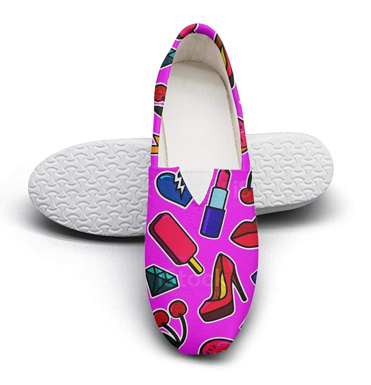 Orange Chocolate Glazed Donut Womens Cloth Shoes for Womens Customize Comfortable and Lightweight
