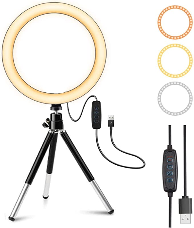 Lunir Broadcast Live Photography Fill Light LED Camera Phone Flash Dimmable Light On-Camera Video Lights