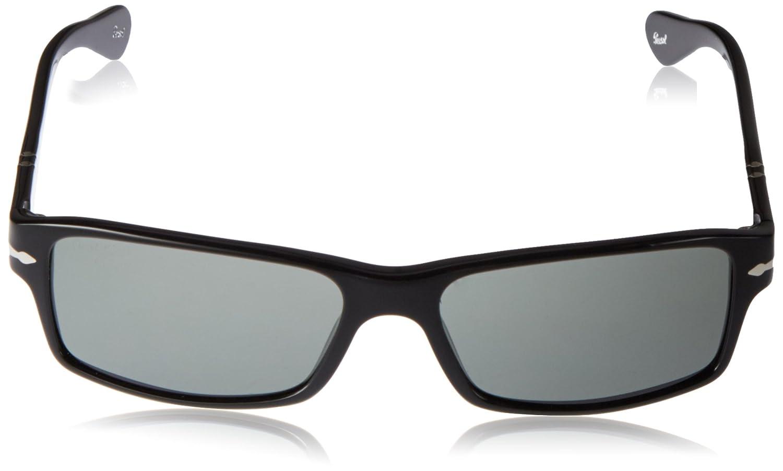 35f04cccbc Persol Sunglasses PO 2747S - 95 48 Shiny Black (Grey Polarized Lens) - 57mm   Persol  Amazon.co.uk  Clothing