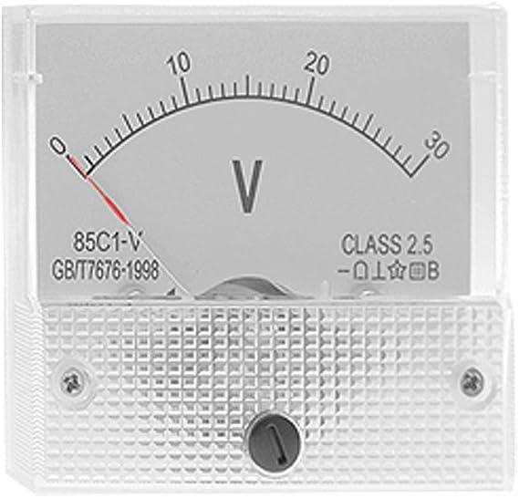 PRENKIN DC 30V Professional Analog Panel Volt Voltage Meter Tester Gauge 85C1 0-30V Voltmeter