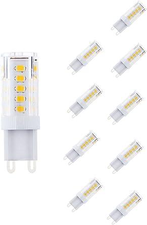 NuLoXx 10er Pack 3.5W827 LED 2700K G9 echt Warmweiß, 320LM, AC 220 240V, 360° Abstrahlwinkel