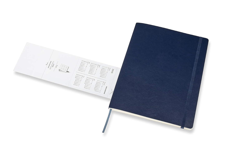 Moleskine 2019-20 Weekly - Agenda Cuaderno Semanal de 18 Meses 2019/2020, Azul Zafiro, Tamaño Extra Grande 19 x 25 cm, 208 Páginas