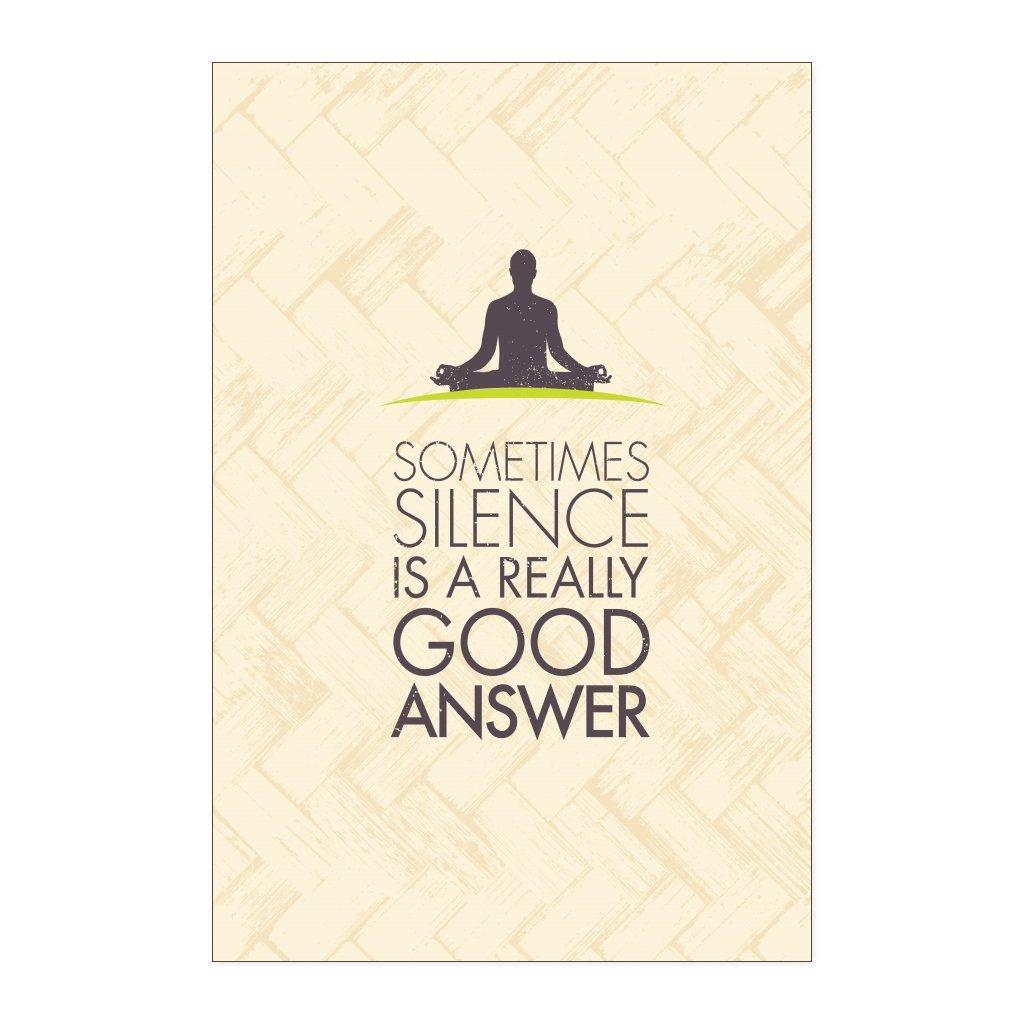 Amazon.com: Teelaunch Sometimes Silence is a Really Good ...