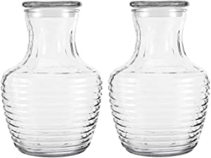 Anchor Hocking Covered Glass 64 Ounce Chiller Pitcher, Set of 2