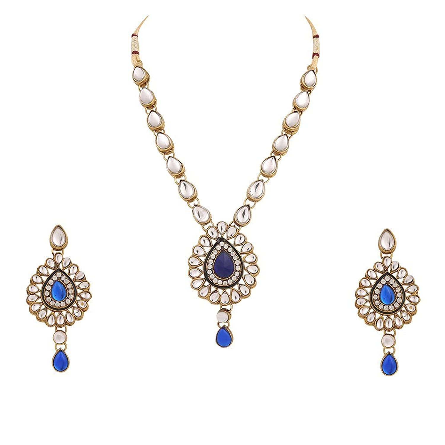 Buy Dancing Girl Blue Metal Pendant Necklace Chain With Dangle ...