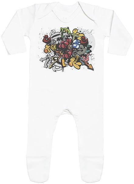 Spoilt Rotten Graffiti Print with Feet - Peleles para bebé - Peleles para bebé Niño - Peleles para bebé Niña: Amazon.es: Ropa y accesorios