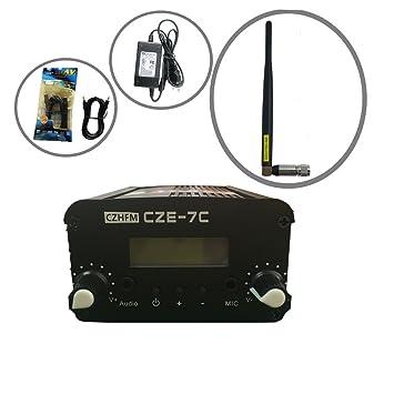 5W//7W CZH CZE-7C FM stereo PLL transmitter 87-108MHZ short antenna Kit