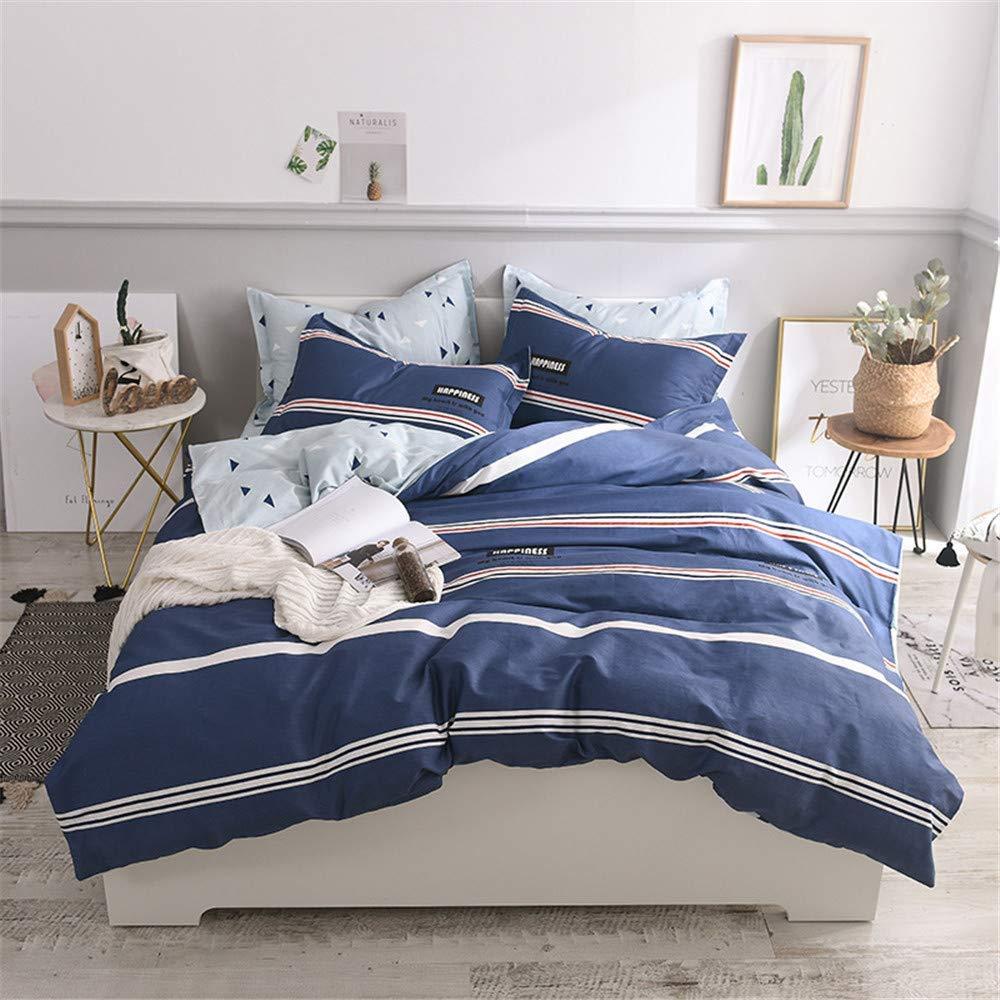 Ban-Luoke 4ピースのシンプルなコットンの小さな新鮮な印刷された肥厚植物のシーツ掛け布団カバー枕カバー寝具、04、1.2メートルベッド(掛け布団カバー160×210枚180×230) B07SNSF4P3