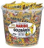 gummy bear haribo - Haribo Mini Goldbaren ( Haribo mini Gold Bears ) , 100x minibags, 980g Tub