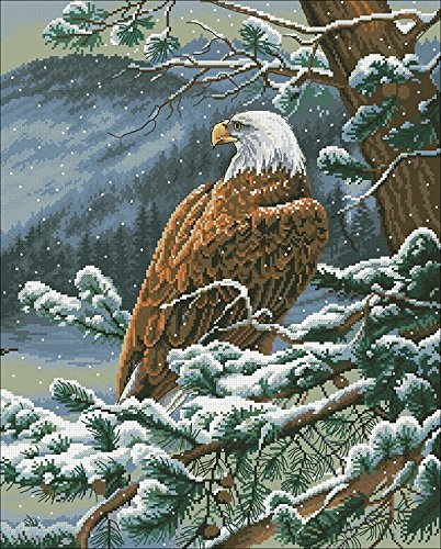 The Eagle Counted Cross Stitch Kit Egypt Cotton Thread 14ct ,196x244stitch 46x55cm Cross Stitch (Eagle Cross Stitch)