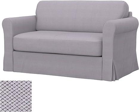 Amazon Com Soferia Replacement Cover For Ikea Hagalund Sofa Bed Fabric Nordic Light Grey Home Kitchen