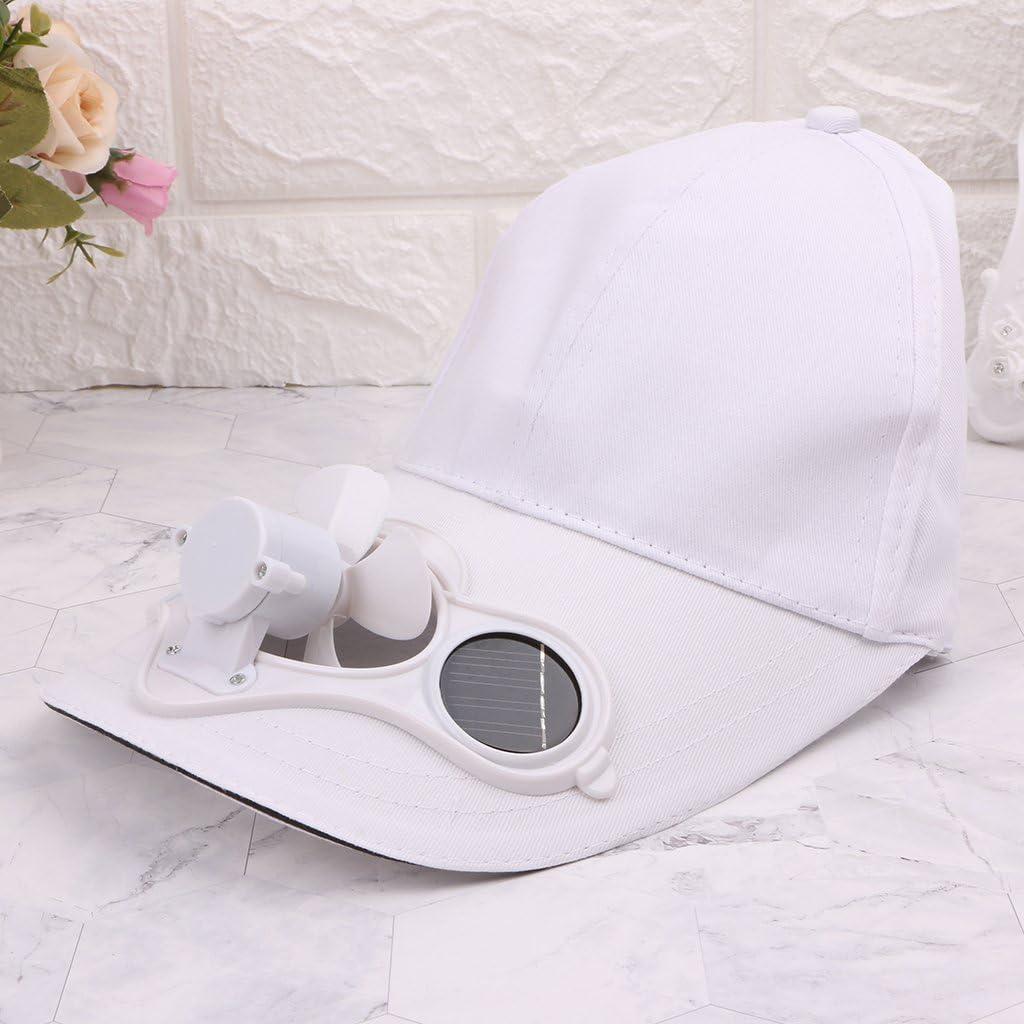 S-TROUBLE Berretto da Cappello per Sport Estivi allaperto con energia Solare Solare Ventilatore Fresco Arrampicata in Bicicletta