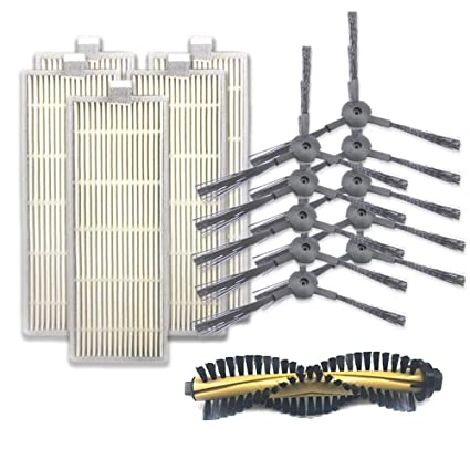 RoadRoma Cepillo Principal Hepa Filter Side Brushes For Ilife A4 ...