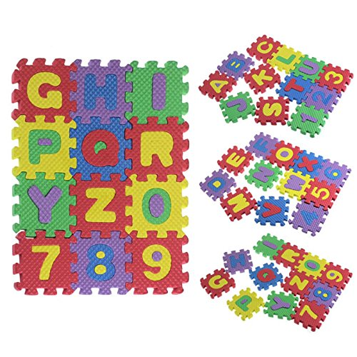 [Education Toy, RIUDA 36Pcs Baby Child Number Alphabet Puzzle Foam Maths Educational Toy Gift] (Animals That Start With The Letter B)