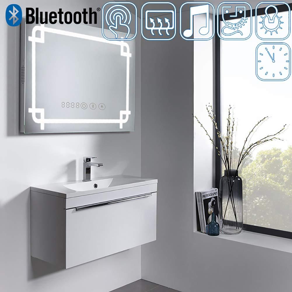 WarmieHomy Modern Illuminated LED Bathroom Mirror Light with Shaver ...